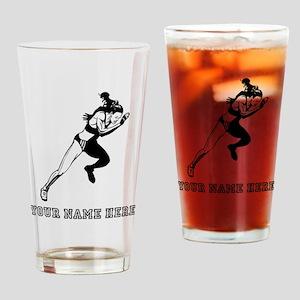 Custom Woman Sprinting Drinking Glass