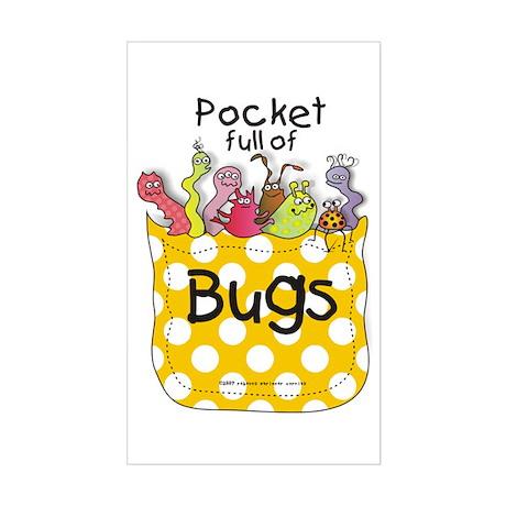 Pocket full of Bugs! #5 Rectangle Sticker