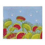 Carnivorous plants Fleece Blankets