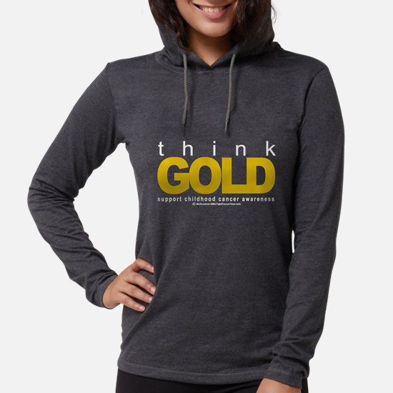 Childhood Cancer Think Gold Long Sleeve T-Shirt