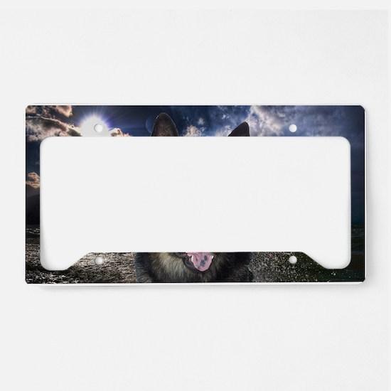 German Shepherd Ocean License Plate Holder
