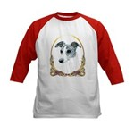 Brindle Whippet Holiday/Xmas Kids Baseball Jersey
