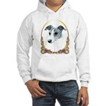 Brindle Whippet Holiday/Xmas Hooded Sweatshirt