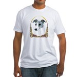 Brindle Whippet Holiday/Xmas Fitted T-Shirt