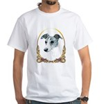 Brindle Whippet Holiday/Xmas White T-Shirt