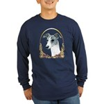 Brindle Whippet Holiday/Xmas Long Sleeve Dark T-Sh