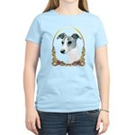 Brindle Whippet Christmas Women's Light T-Shirt