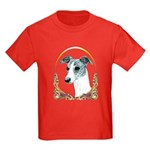 Brindle Whippet Christmas/Holiday Kid Dark T-Shirt