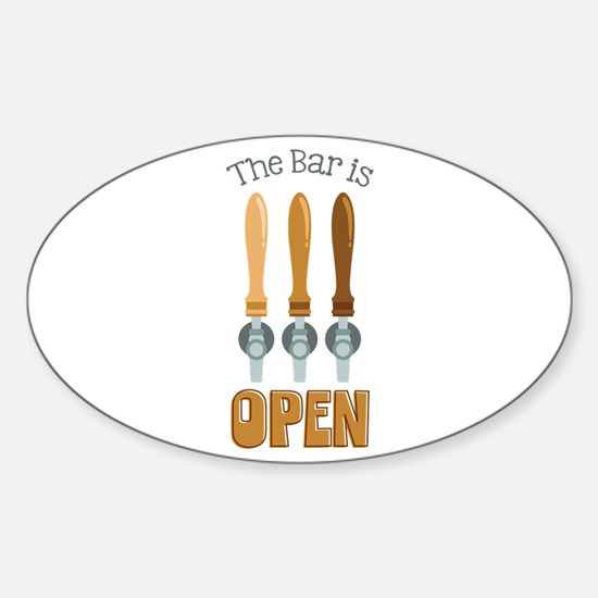 The Bar is Open Stickers