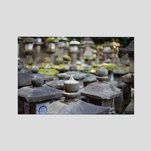 Kasuga Taisha Stone Lanterns Rectangle Magnet