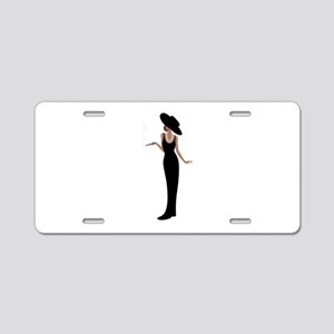 Foxy Diva Smoking Classy Lady Aluminum License Pla