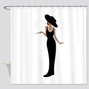 Foxy Diva Smoking Classy Lady Shower Curtain