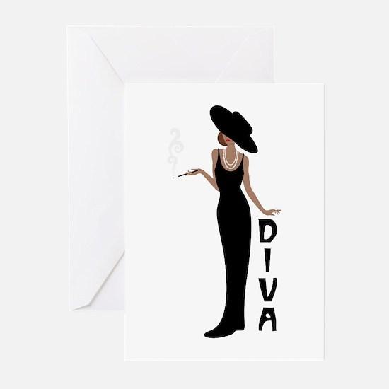 Diva Greeting Cards
