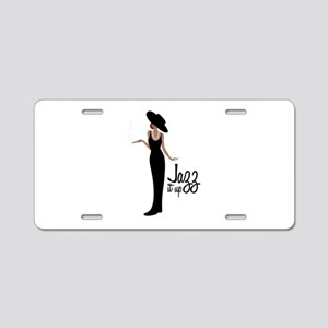 Jazz it up Aluminum License Plate
