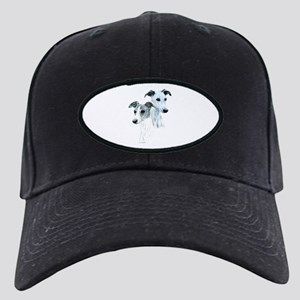 Whippet Pair Black Cap