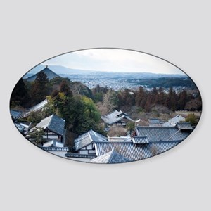 Temples of Nara Sticker (Oval)