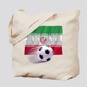 Soccer Flag Iran Tote Bag