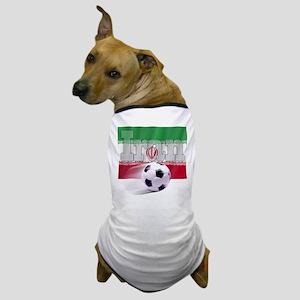 Soccer Flag Iran Dog T-Shirt