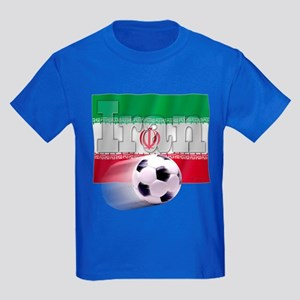 Soccer Flag Iran Kids Dark T-Shirt