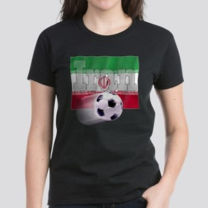 Soccer Flag Iran Women's Dark T-Shirt