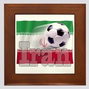 Soccer Flag Iran Framed Tile