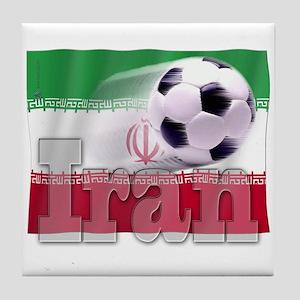 Soccer Flag Iran Tile Coaster