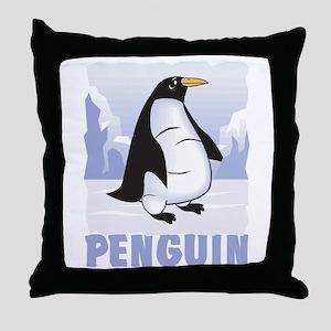 Kid Friendly Penguin Throw Pillow