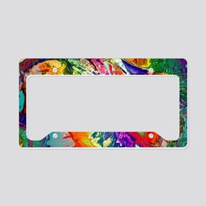 Action, abstract License Plate Holder