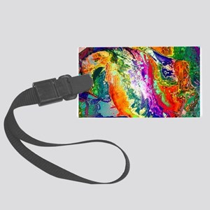 Action, abstract Luggage Tag