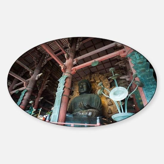 Giant Buddha Statue Sticker (Oval)