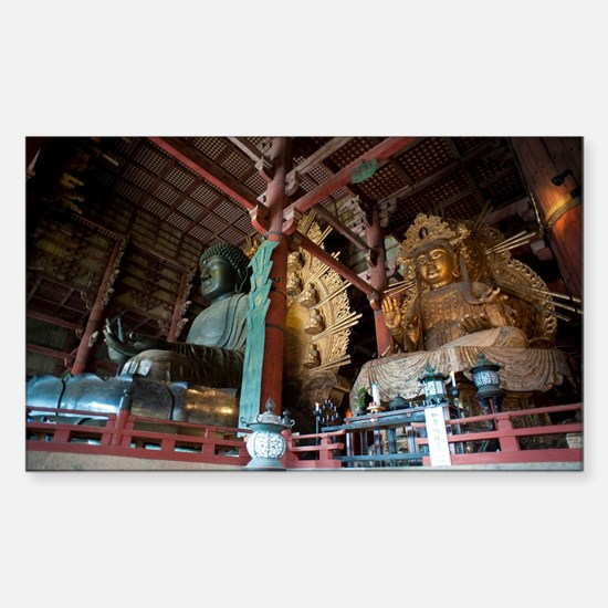 Todai-ji Buddha Statue Sticker (Rectangle)