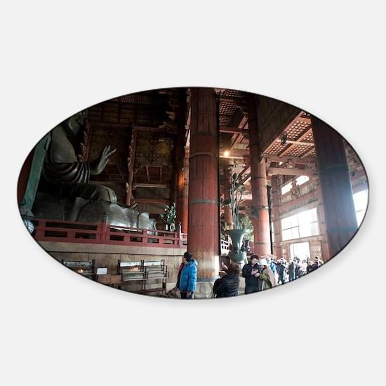 Todai-ji Buddha Statue Sticker (Oval)