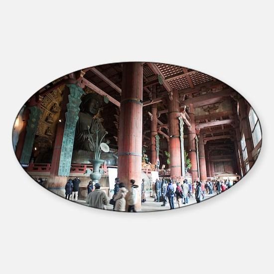 Daibutsu-den interior Sticker (Oval)