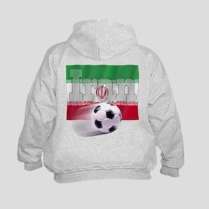 Soccer Flag Iran (B) Kids Hoodie