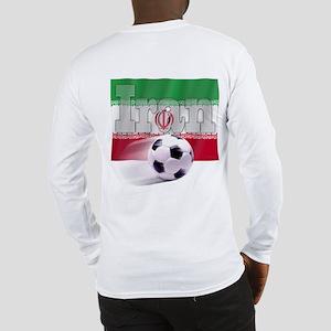 Soccer Flag Iran (B) Long Sleeve T-Shirt