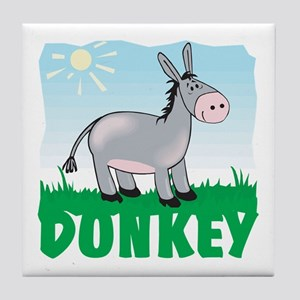 Kid Friendly Donkey Tile Coaster