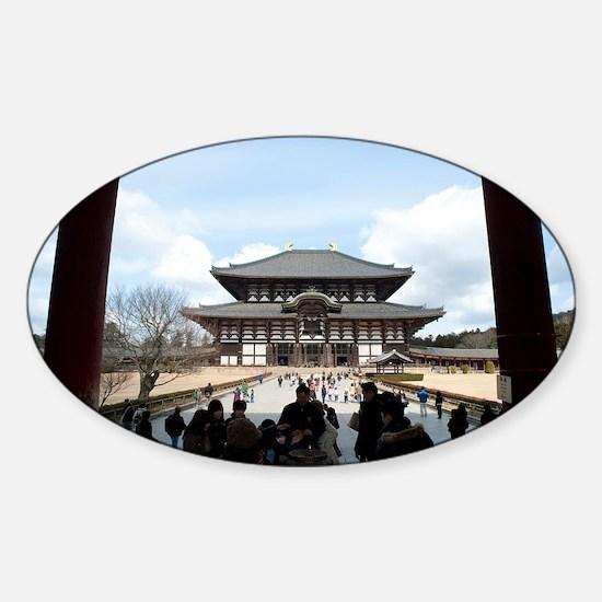 Todai-ji Daibutsuden Sticker (Oval)