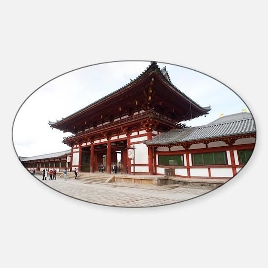 Todai-ji middle gate Sticker (Oval)