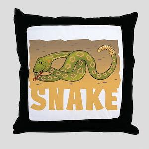 Kid Friendly Snake Throw Pillow