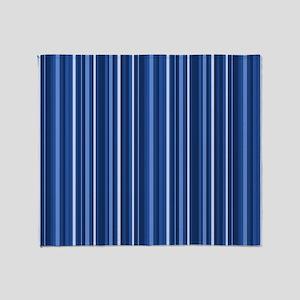 Blue Stripes Throw Blanket