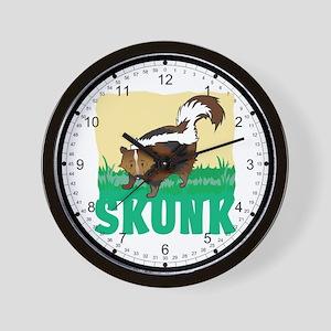 Kid Friendly Skunk Wall Clock