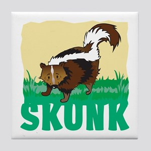 Kid Friendly Skunk Tile Coaster