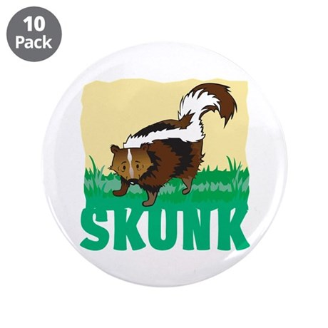 "Kid Friendly Skunk 3.5"" Button (10 pack)"