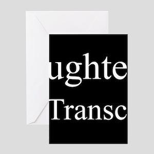 Daughter - Medical Transcriptionist Greeting Cards