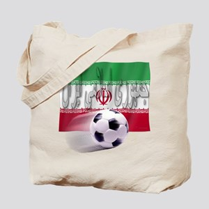 Soccer Flag Iran (Arabic) Tote Bag