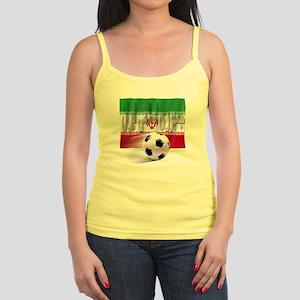 Soccer Flag Iran (Arabic) Jr. Spaghetti Tank