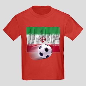 Soccer Flag Iran (Arabic) Kids Dark T-Shirt