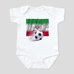 Soccer Flag Iran (Arabic) Infant Bodysuit