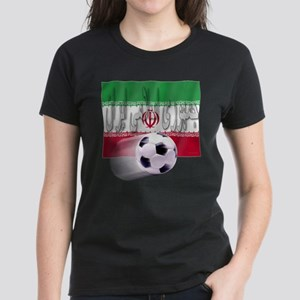 Soccer Flag Iran (Arabic) Women's Dark T-Shirt