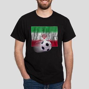 Soccer Flag Iran (Arabic) Dark T-Shirt